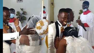 Drama ensues as another bride refuses to kiss groom at their wedding (+Video)