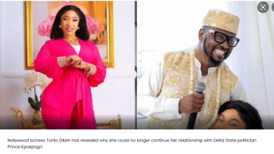 'So many things I found out are not healthy for me' Actress Tonto Dikeh speaks on the lifestyle of ex-boyfriend Prince Kpokpogri