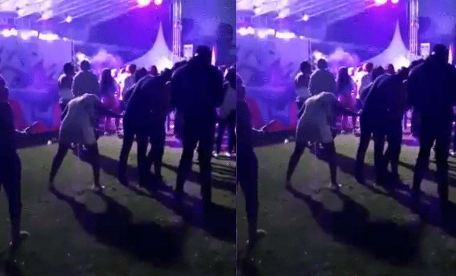 Drunk Slay Queen Open her legs & urinates on her self at a night party