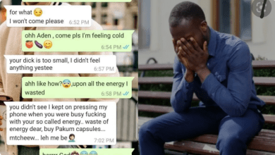 Your Dick Is Too Small And I Don't Feel Anything When You Jump On Me Up And Down Like A Horse – Lady Says As She Dumps Her Boyfriend