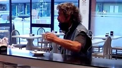 Video shows Italian man having coffee in a bar moments before killing his Nigerian wife, Amenze Rita