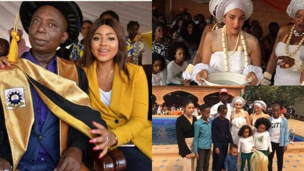 Ned Nwoko replies followers who asked why he doesn't post his other wives on social media and also prayed that people treat his children same way he treats Regina Daniels