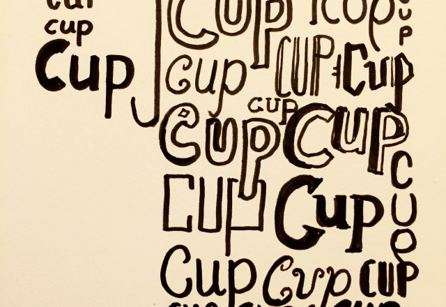 350 Lettered Cup