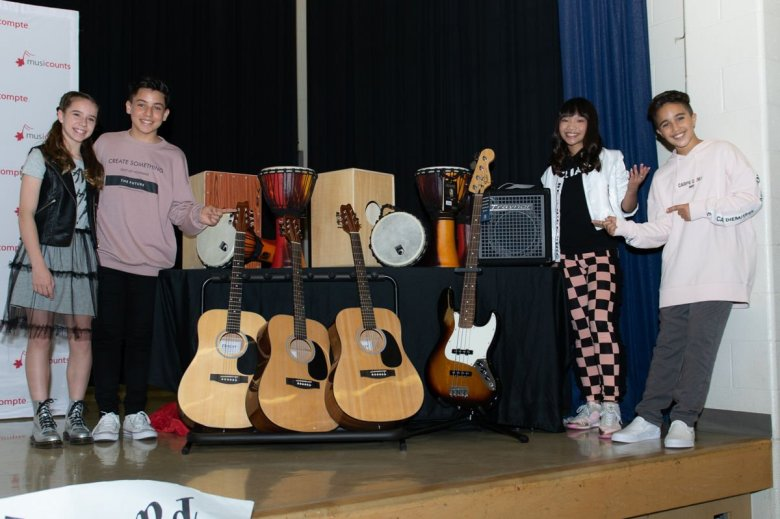 kidz bop and musicounts surprise toronto school with musicounts band