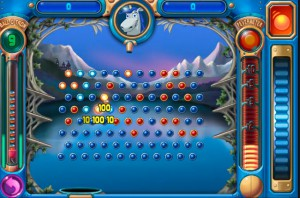 A sample Peggle screenshot
