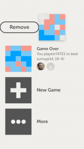 Letterpress for iOS - slide to remove game