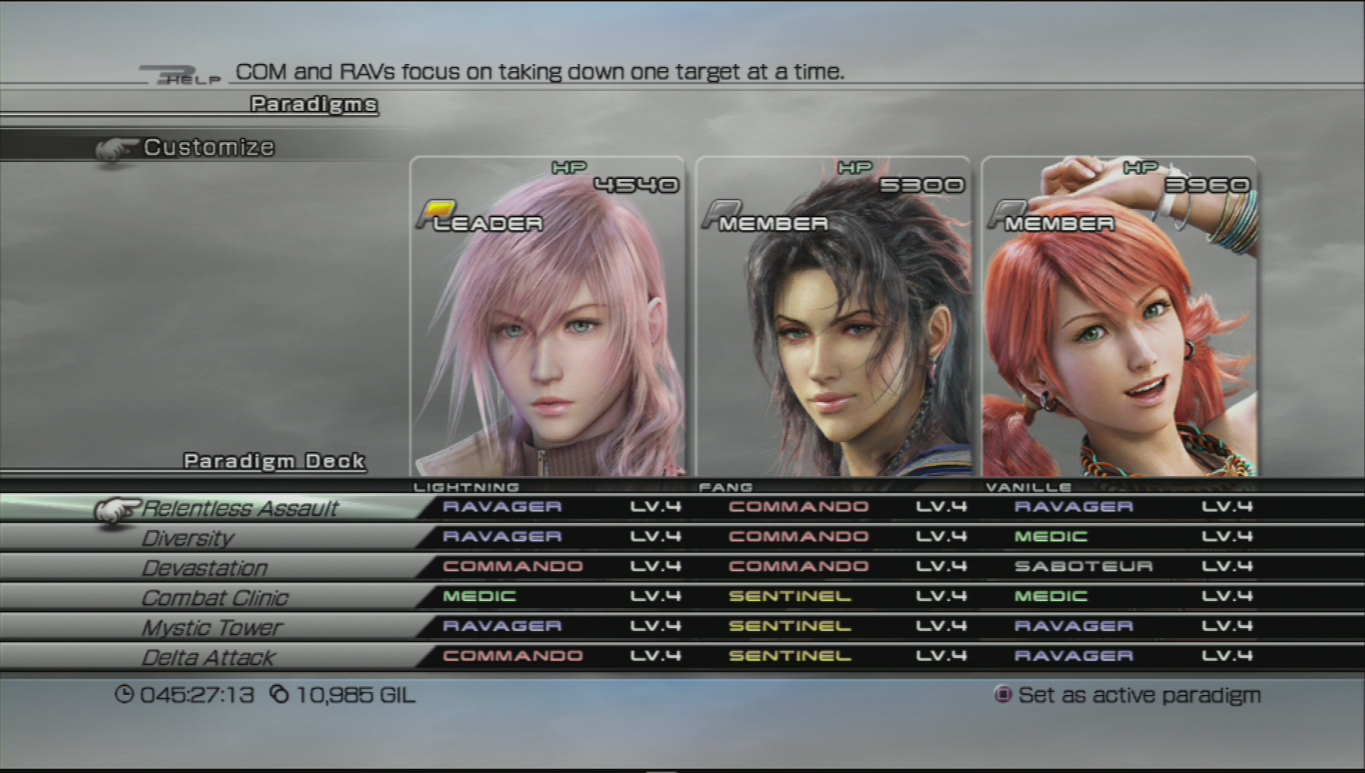 Image result for ffxiii paradigms