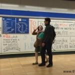 Arte urbana no metrô de Madrid
