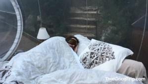 Dormir em um hotel bolha