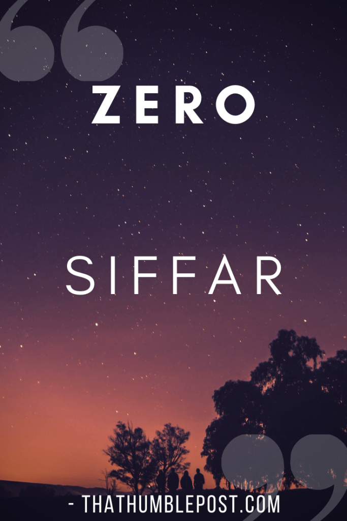 zero means siffar in urdu language words