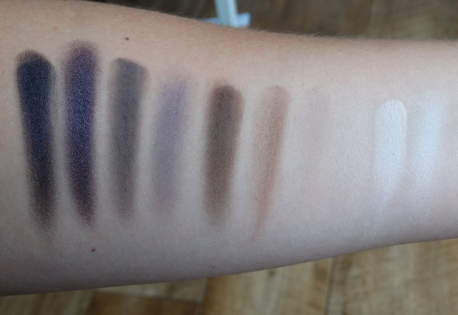 real vs fake urban decay naked smoky palette swatches