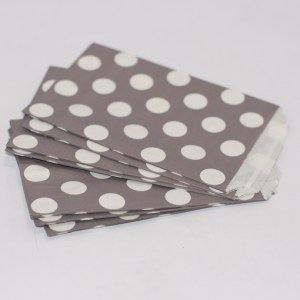 Small Stone Grey Dots Candy Bags