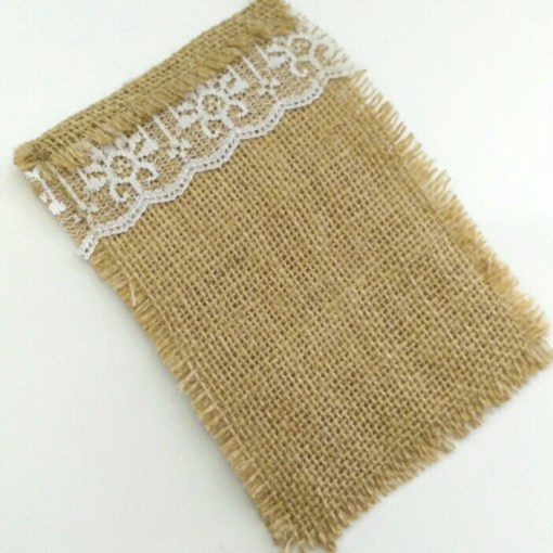 Hessian Cutlery Holder