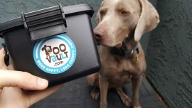 PooVault Review and Giveaway – Holds Poop Bags Hands Free