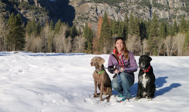 Remy, Ace and me in Yosemite