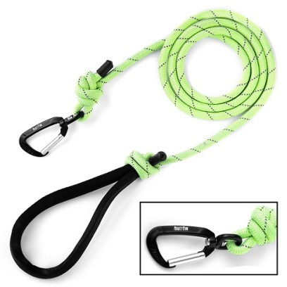 Mighty Paw rope leash review - green