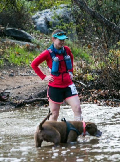 Trail racing with dogs