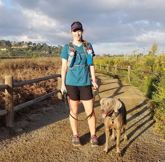 Trail race with dog