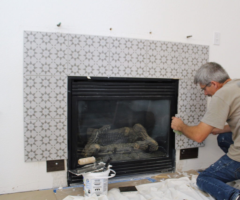diy fireplace makeover that newlywed life