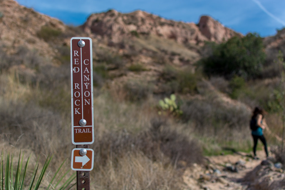 Trail marker to Red Rock Canyon Trail