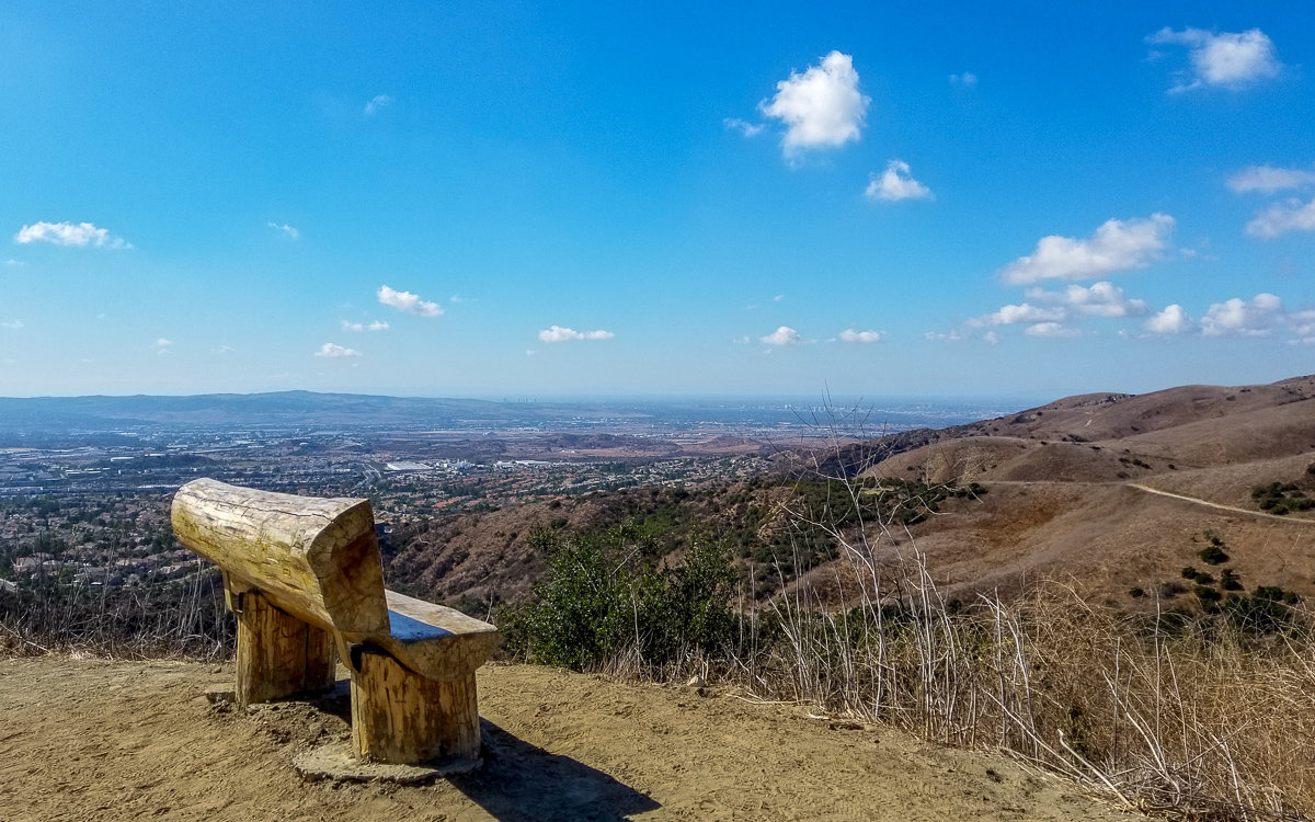 Viewpoint from the top of Dreaded Hill in Whiting Ranch Wilderness Park