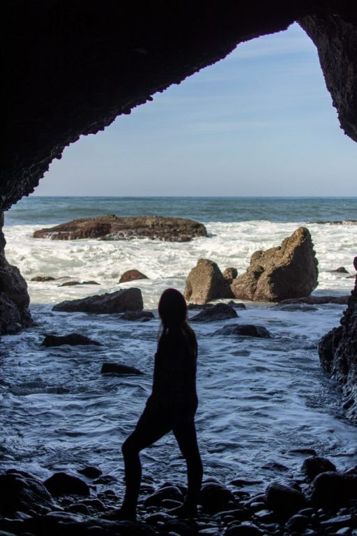 Inside of the Sea Cave in Dana Point