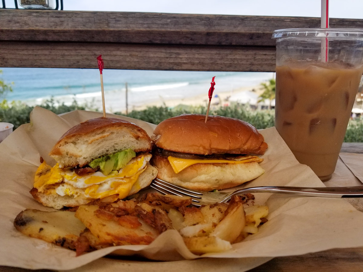 Breakfast from the Shake Shack in Crystal Cove