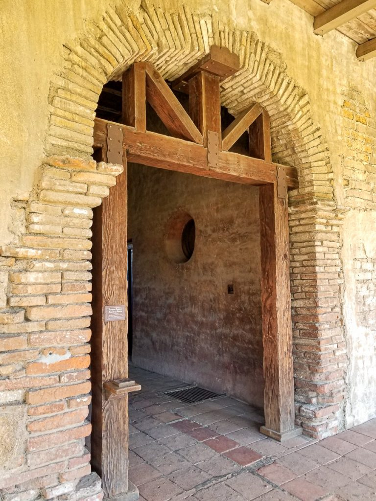 Doorway in the Mission San Juan Capistrano