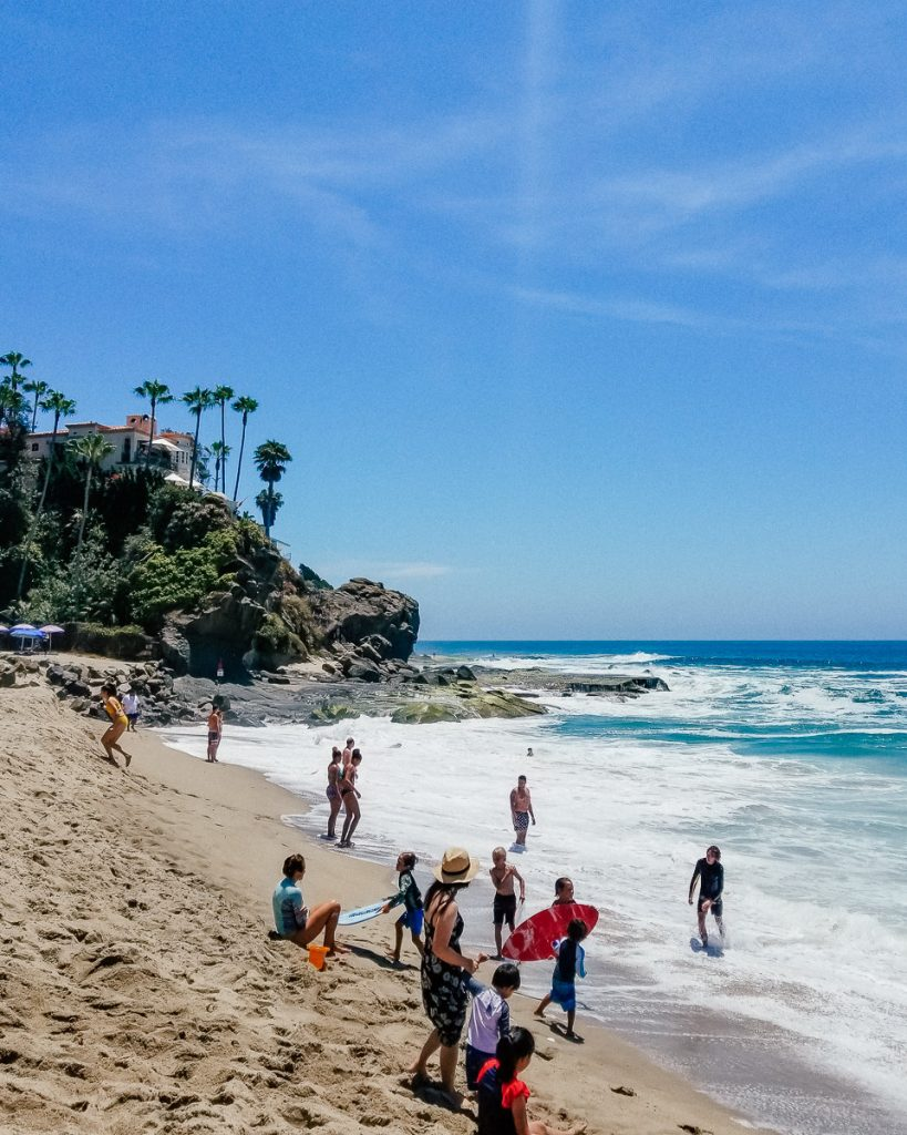 Aliso Beach is a great beach for swimming and skimboarding