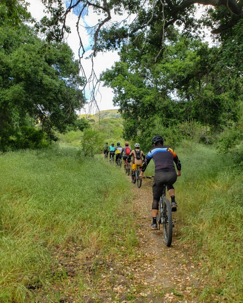Group trail ride with IRC