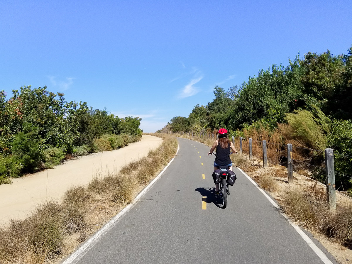 Hiking and bike paths in Irvine, California