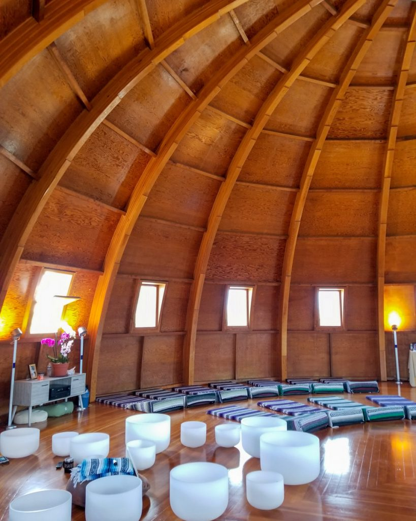 The Integratron soundbath in Joshua Tree