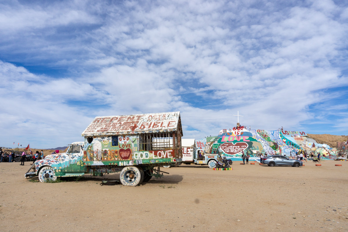 Overview of Salvation Mountain