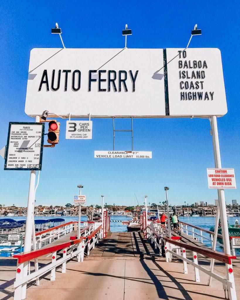 The auto ferry to Balboa Island