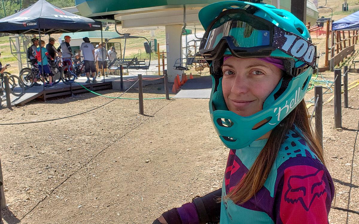 Mountain biking safety gear for women