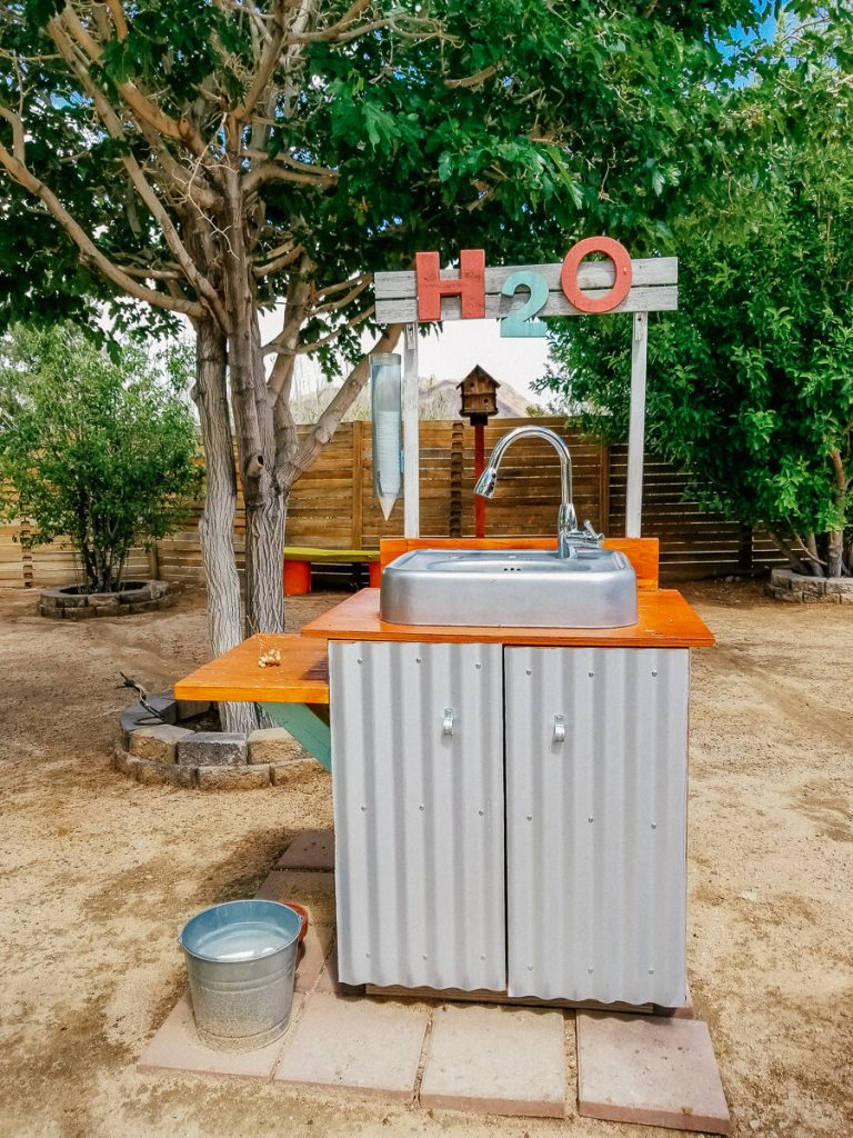 Water station outside of the Integratron