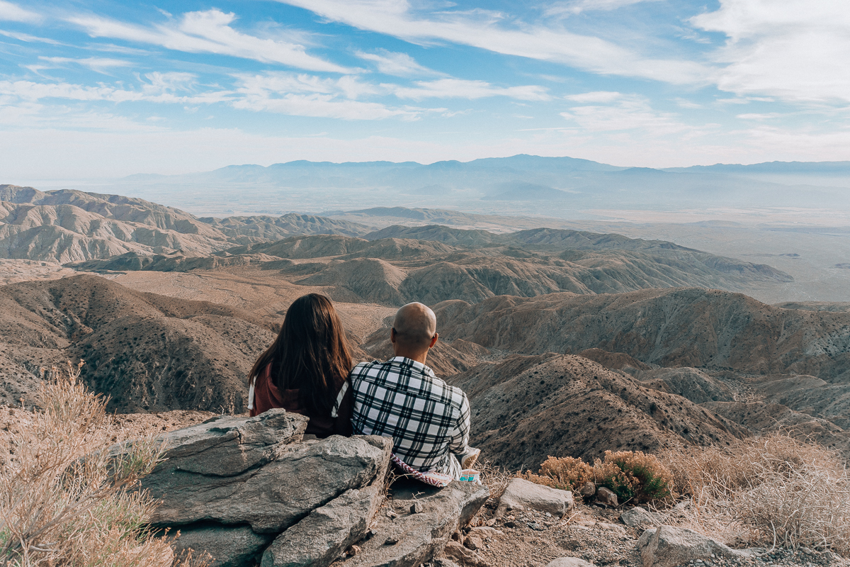 Looking out into the distance from Keys View in Joshua Tree National Park
