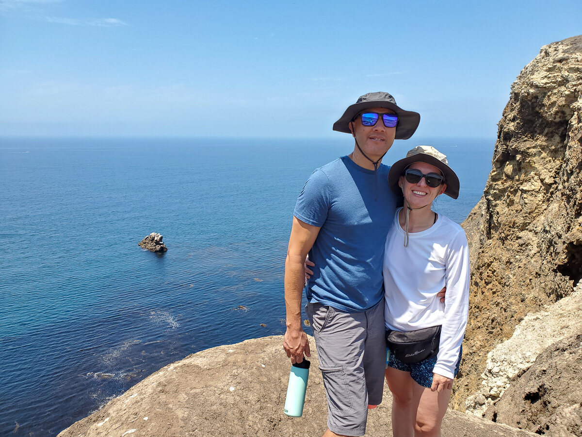 My husband and I during our Channel Islands hike