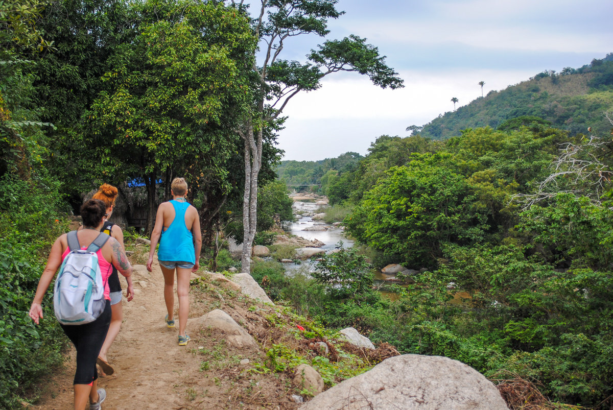 Hiking along the river in Yelapa, Mexico