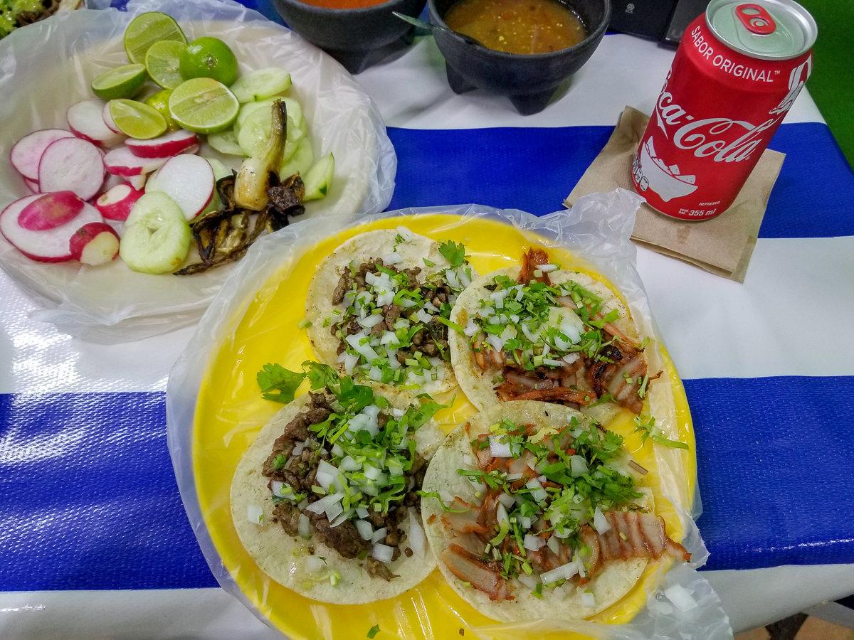 Street tacos in Puerto Vallarta