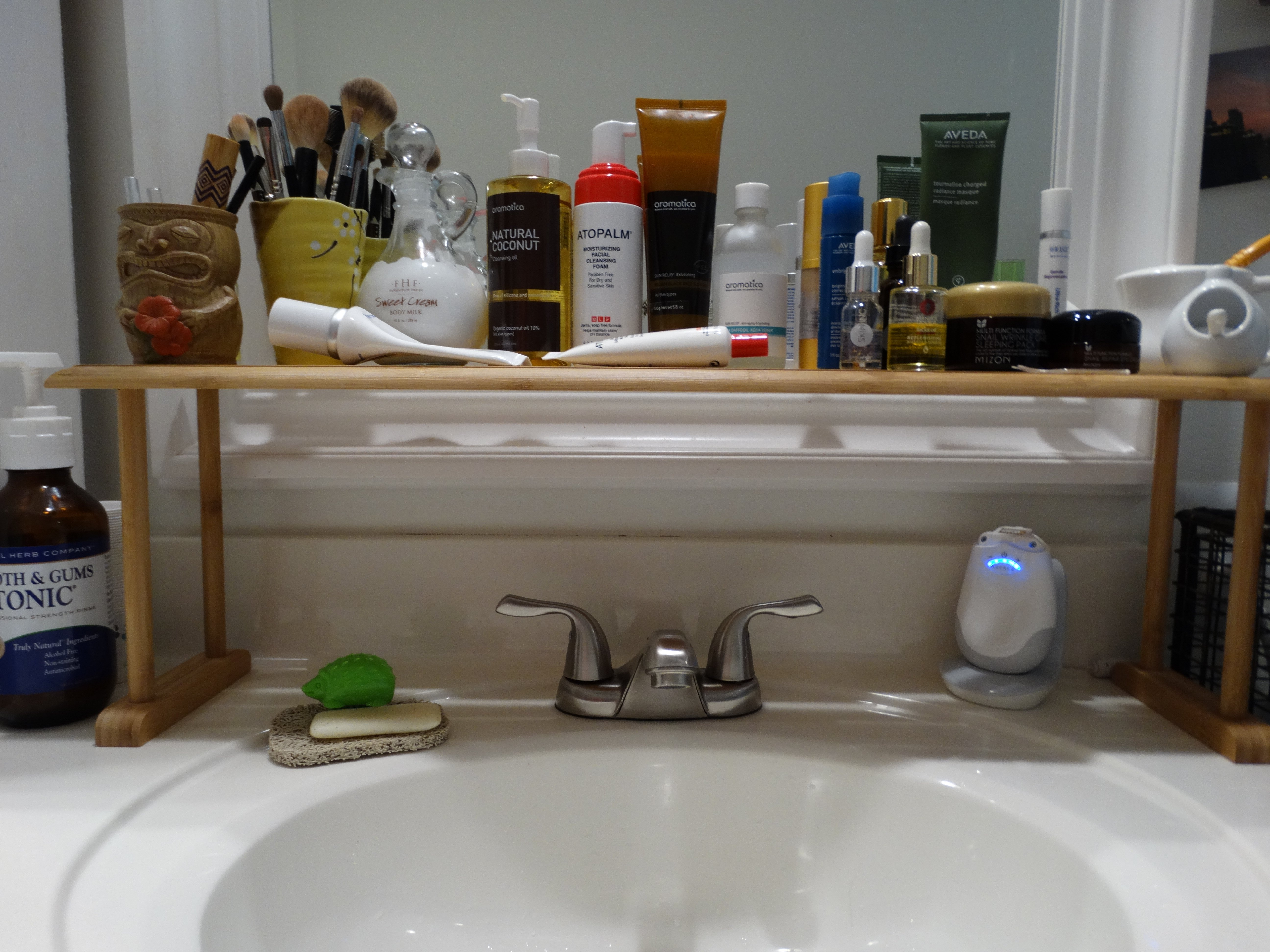 """How much """"tidying"""" is normal and when do we go over board sacrificing convenience for the sake of a clean counter??"""