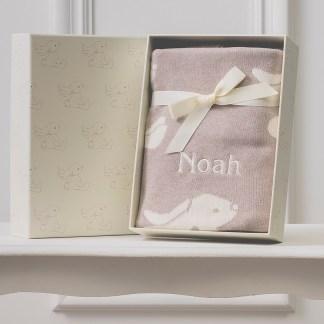 Personalised Jellycat bashful bunny beige baby blanket