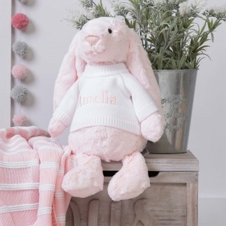 Personalised Jellycat Pink Bashful Bunny Large Soft Toy
