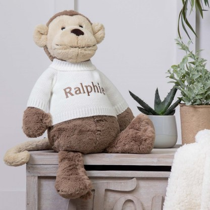 Personalised Jellycat Bashful Monkey Large Soft Toy
