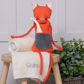 Wooly Organic Orange Fox Soft Toy