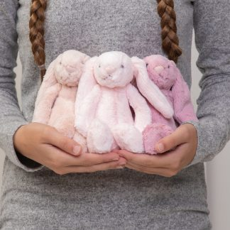 Jellycat bashful bunny small soft toy - blush pink, pale pink or tulip pink