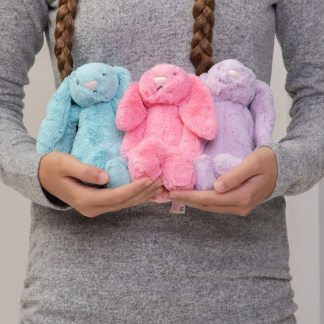 Jellycat bashful bunny small soft toy - aqua, sorbet or lilac