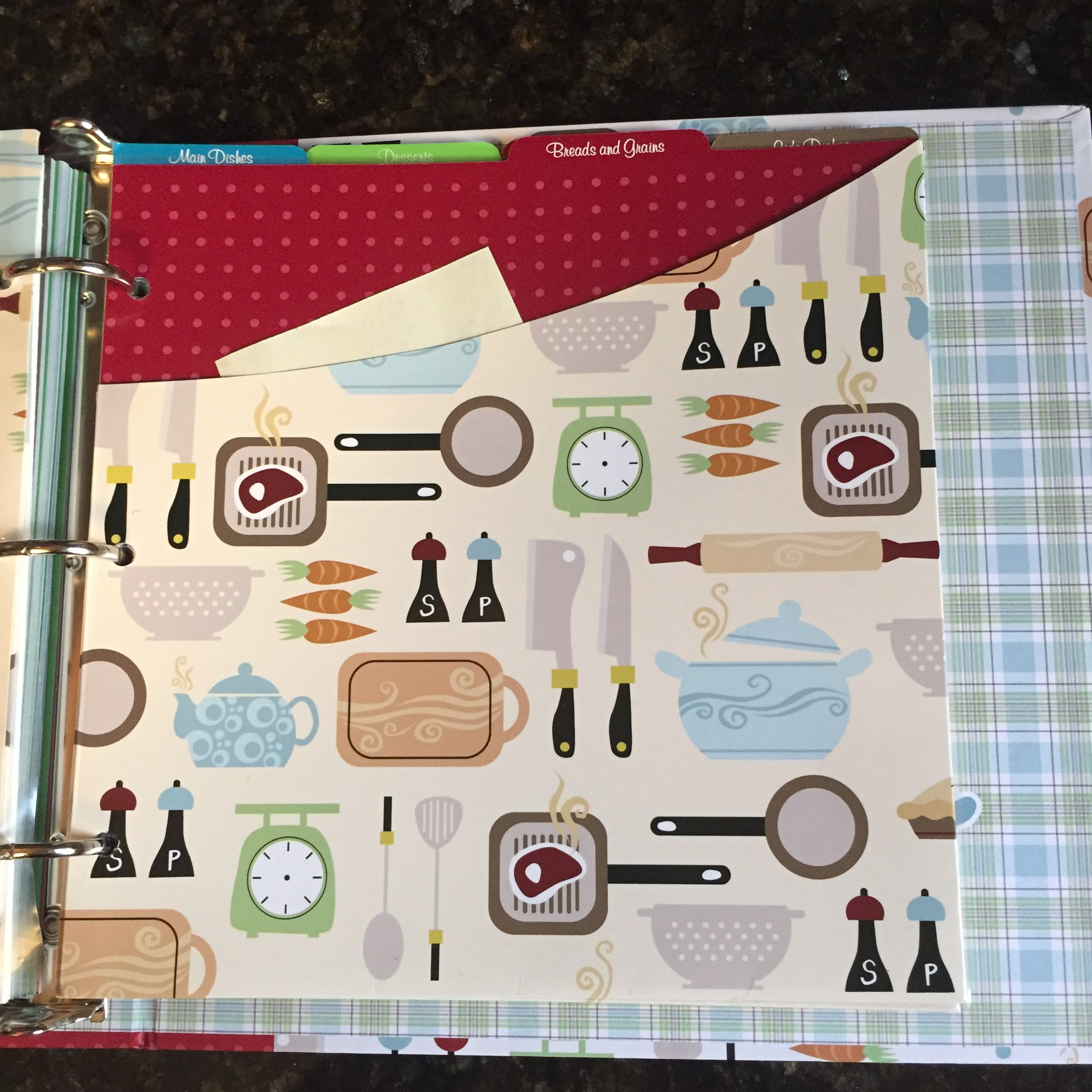 A recipe binder is a great way to preserve your precious family recipes for future chefs.