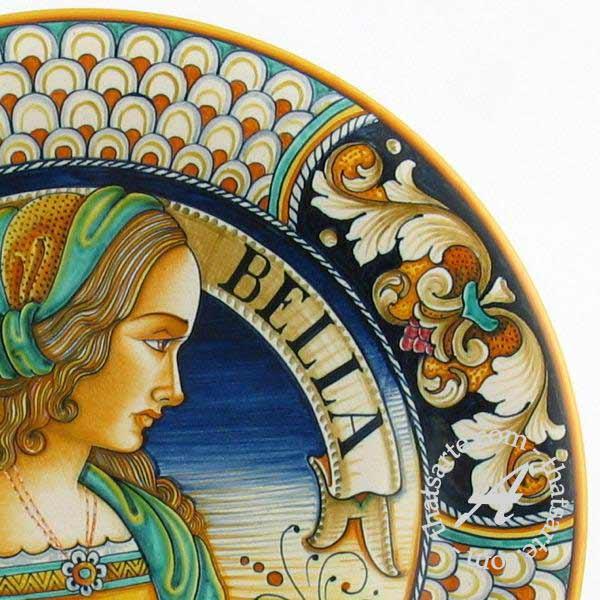 Italian wall plate - Julia Bella by Alvaro Binaglia (Deruta)