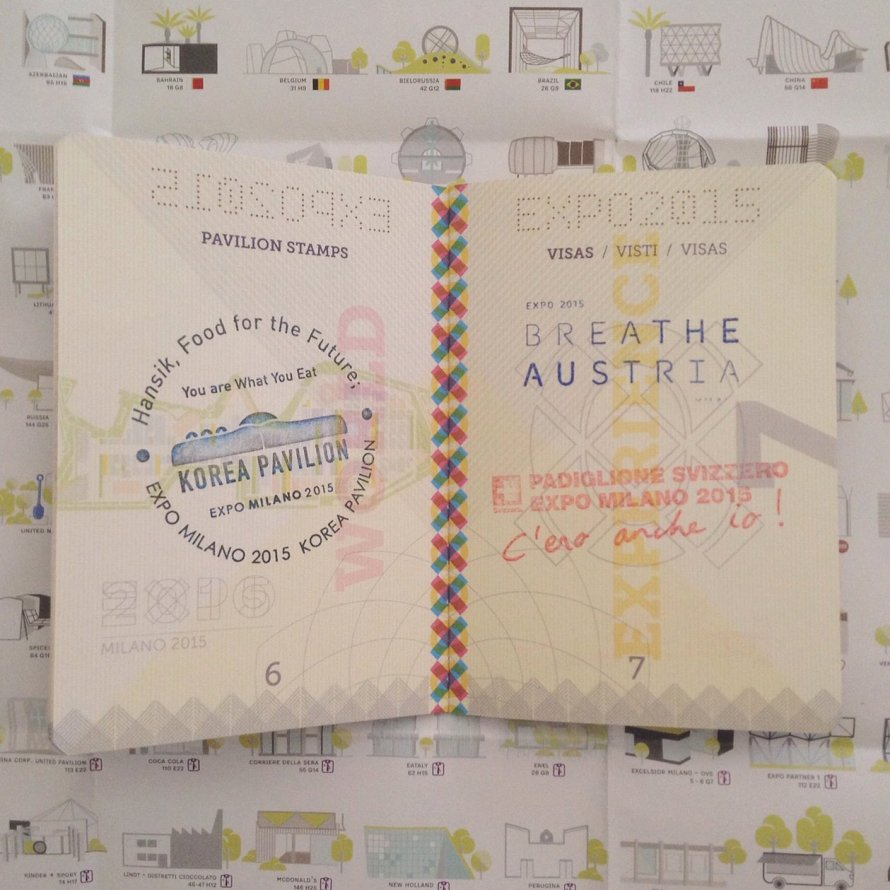 INGRIDESIGN EXPO milan 2015 passport stamps